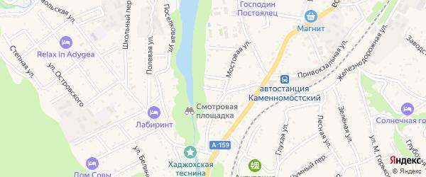 Майский 3-й тупик на карте Каменномостского поселка с номерами домов