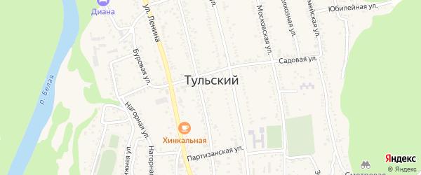 Дорога А/Д Подъезд к рп. Тульский на карте Тульского поселка с номерами домов