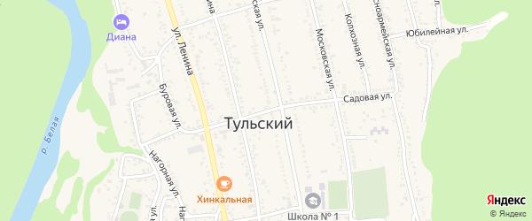 Садовая улица на карте Тульского поселка с номерами домов