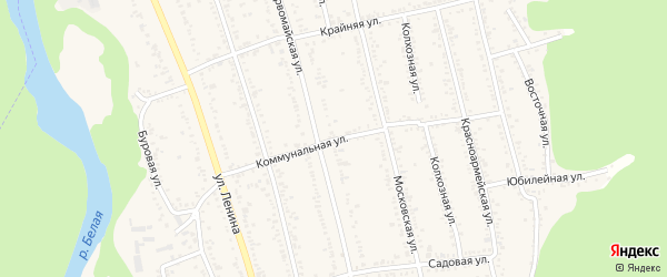 Коммунальная улица на карте Тульского поселка с номерами домов