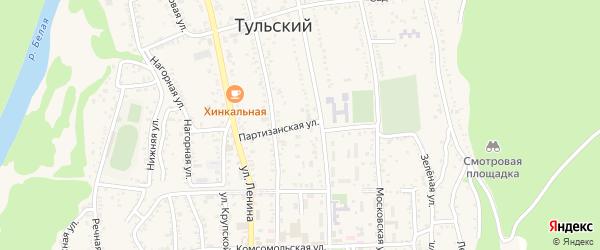 Партизанская улица на карте Тульского поселка с номерами домов