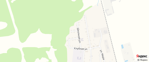 Северный переулок на карте Первомайского поселка с номерами домов