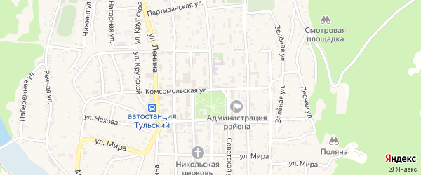 Первомайская улица на карте Тульского поселка с номерами домов