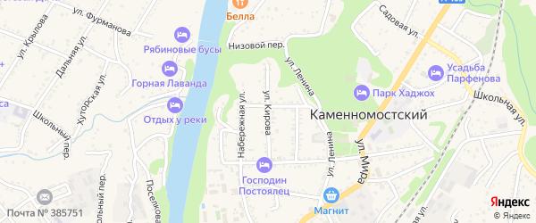 Улица Кирова на карте Каменномостского поселка с номерами домов