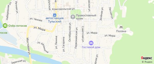 Улица Мира на карте Тульского поселка с номерами домов