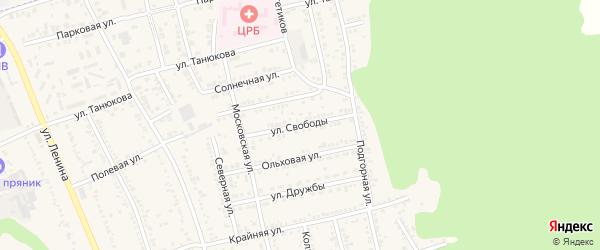Улица Свободы на карте Тульского поселка с номерами домов