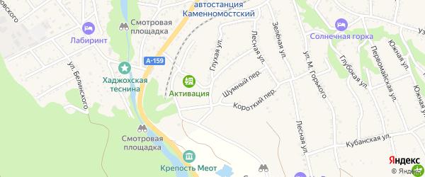 Шумная улица на карте Каменномостского поселка с номерами домов