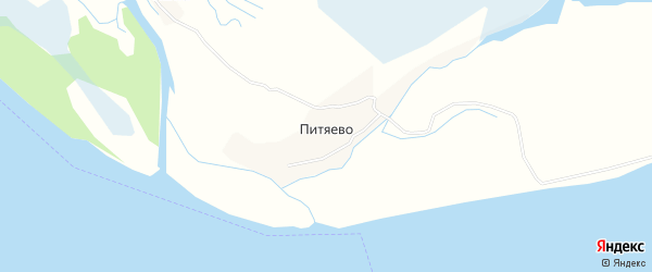 Карта деревни Питяево в Архангельской области с улицами и номерами домов