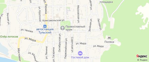 Школьная улица на карте Тульского поселка с номерами домов