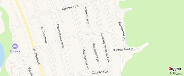 Колхозная улица на карте Тульского поселка с номерами домов
