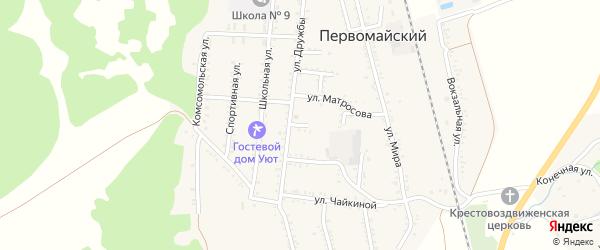 Улица Кутузова на карте Первомайского поселка с номерами домов