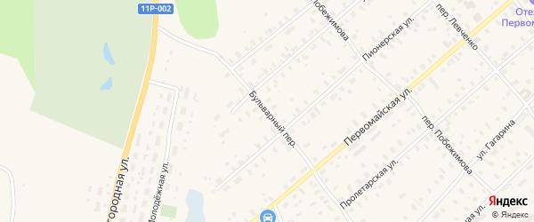Бульварный переулок на карте Няндомы с номерами домов