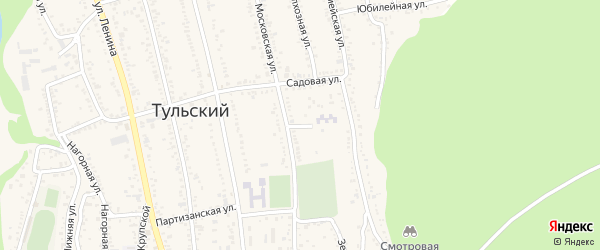 Жемчужный переулок на карте Тульского поселка с номерами домов