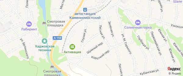 Рабочая улица на карте Каменномостского поселка с номерами домов