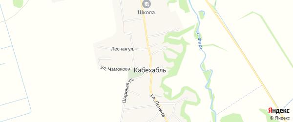 Карта аула Кабехабля в Адыгее с улицами и номерами домов