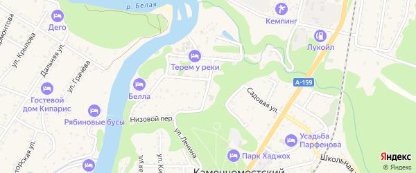 Веселая улица на карте Каменномостского поселка с номерами домов