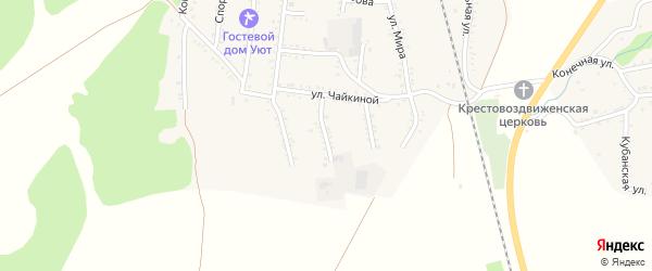 Переулок Кислова на карте Первомайского поселка с номерами домов