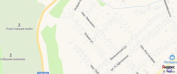 Новая улица на карте железнодорожной станции Лепши с номерами домов