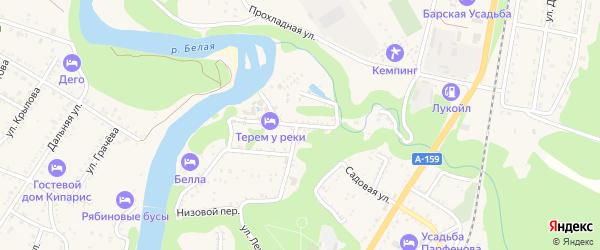 Хаджохская улица на карте Каменномостского поселка с номерами домов
