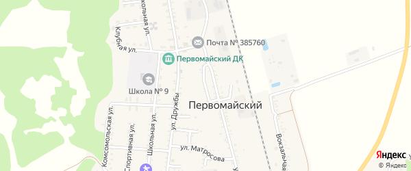 Улица Кошевого на карте Первомайского поселка с номерами домов