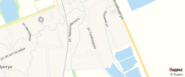 Улица Грибоедова на карте хутора Шунтука с номерами домов