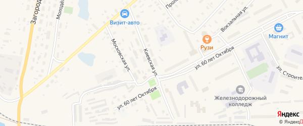 Киевская улица на карте Няндомы с номерами домов
