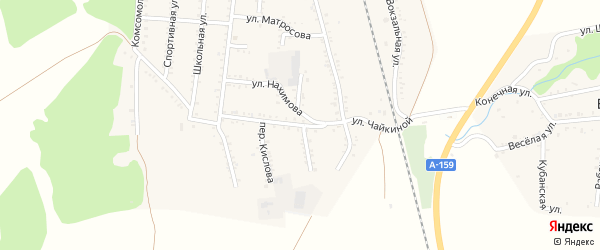 Улица Чайкиной на карте Первомайского поселка с номерами домов