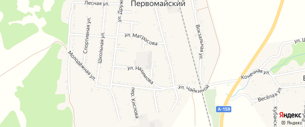 Пионерская улица на карте Первомайского поселка с номерами домов