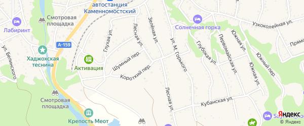 Короткий переулок на карте Каменномостского поселка с номерами домов