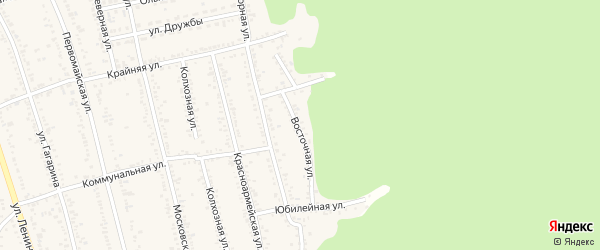 Восточная улица на карте Тульского поселка с номерами домов