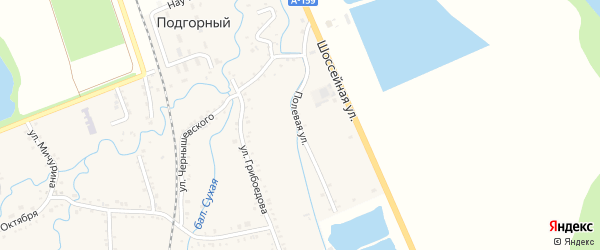 Полевая улица на карте садового некоммерческого товарищества Малиновки с номерами домов
