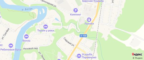 Виноградная улица на карте Каменномостского поселка с номерами домов