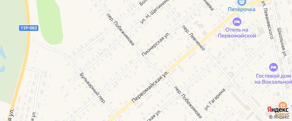 Переулок Побежимова на карте Няндомы с номерами домов