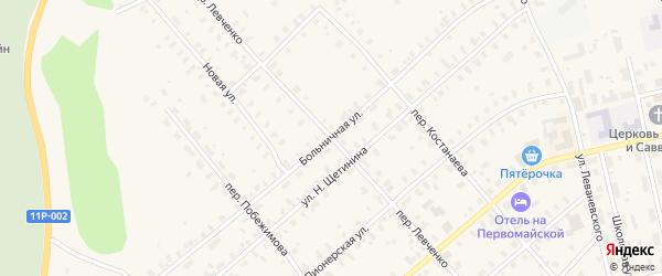 Больничная улица на карте Няндомы с номерами домов