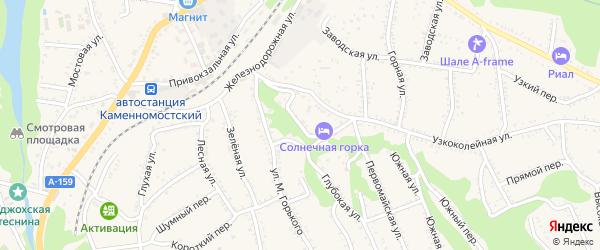 Верхний переулок на карте Каменномостского поселка с номерами домов
