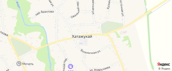 Улица Войкова на карте аула Хатажукая с номерами домов