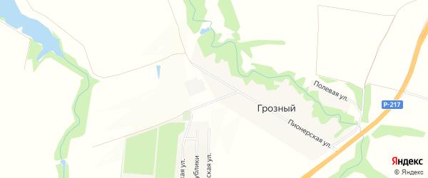 Карта хутора Грозный (Кировское с/п) в Адыгее с улицами и номерами домов