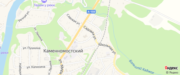 Улица Чайковского на карте Каменномостского поселка с номерами домов
