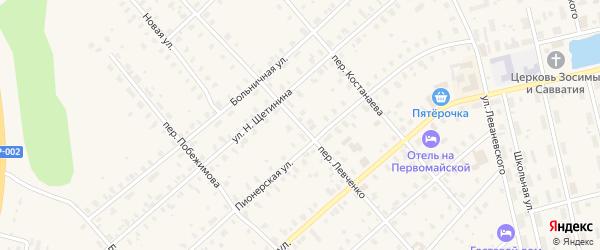 Переулок Левченко на карте Няндомы с номерами домов