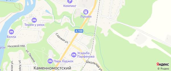 Улица Токорева на карте Каменномостского поселка с номерами домов