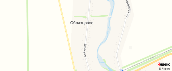 Зеленая улица на карте хутора Прогресса с номерами домов