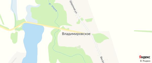 Центральная улица на карте Владимировского села с номерами домов