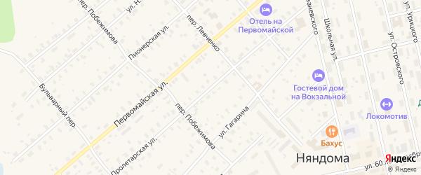 Пролетарская улица на карте Няндомы с номерами домов