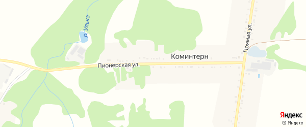 Пионерская улица на карте хутора Коминтерна с номерами домов