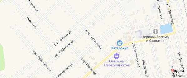 Переулок Костанаева на карте Няндомы с номерами домов