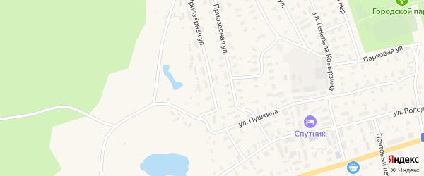 Северо-Западная улица на карте Няндомы с номерами домов
