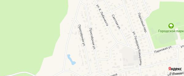Приозерная улица на карте Няндомы с номерами домов