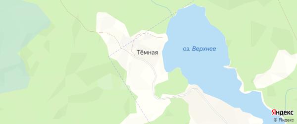 Карта Темной деревни в Архангельской области с улицами и номерами домов