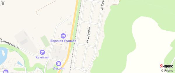 Улица Дружбы на карте Каменномостского поселка с номерами домов