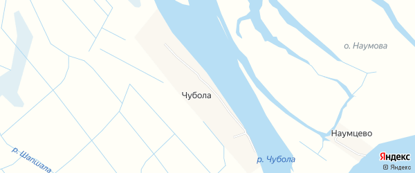 Карта деревни Чубола в Архангельской области с улицами и номерами домов